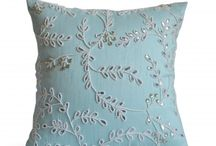 teal pillow cover