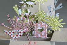 Papírové květinky