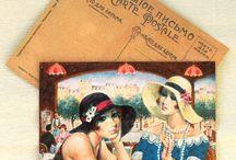 Картины на открытках. / Открытки в стиле ретро.
