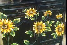 Furniture ,Painted Art Work / by Val Hawkins