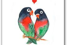 My mosaic  / Parrot love birds
