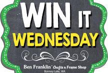 Win It Wednesdays / Enter for a chance to win a beautiful prize! To participate, visit our Facebook page every Wednesday to see our Win It Wednesday post. Simply LIKE, COMMENT and SHARE it and become eligible to win! Facebook: https://www.facebook.com/BFranklinCraftsBL