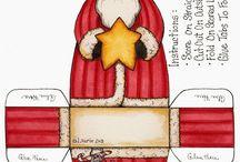 Etiquetas y cajas navideñas para imprimir...