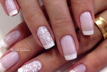 French Nails / French style nails from around the world