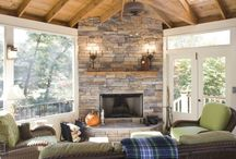 Fireplaces for back porches & outdoords