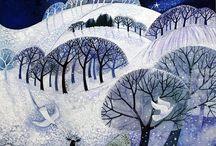 zima ilustracje