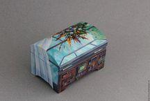 contenitori, scatole dipinte