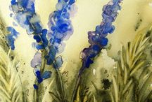Watermarks - Watercolor Painting / A challenging form of painting,  Let the water, color and artist work it out.