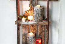 Log home decorations