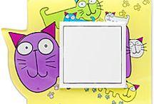 Detské rámiky do Vašej detskej izby / zvieracie motívy rámikov od ELKO EP do rady vypínačov LOGUS90