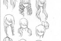 anime hairstyles/drawing