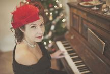 Christmas Photoshoot for Hay Does Vintage / Working with fabulous professionals returns fabulous results.  Photographer: Camilla Rosa Photography.   Hair: Hair by Jess Mac.  Makeup: Naomi Emmanuelle. Clothes: Hay Does Vintage & Vintage Tramp