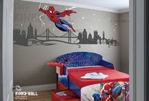 Logans Spider-Man room