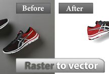 Raster to Vector / Image vectoring samples