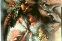 KAREN NOLES-1947-Y-NATIVE AMERICAN- &- ANN HANSON / Pintor estadounidense KARE NOLES nació en 1947- en la pequeña ciudad de MERNA, Nebraska. Una de las mejores artistas de temas nativos, con mucho arte sensibilidad y dominio. Creció allí. A los 19 años se graduó de la Escuela de Arte de Omaha Comercial.    ANN HANSON: captura el corazón y el alma del oeste americano en sus pinturas, altamente detalladas- óleos