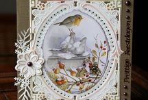 Kerst vogel kaart