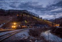 Coal Trains Across The Country / Diesel and steam engines carrying coal