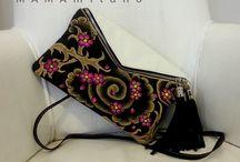 Borse MAMAMILANO dipinte a mano / Le nostre borse in vera pelle made in Italy dipinte a mano!
