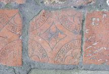 pottery - tiles - incised