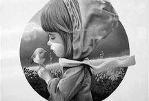 Huele a gris ☀ / street art, graffiti, fotografia, blanco & negro, people,