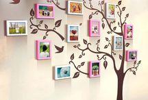 Árbol genealógico en pared