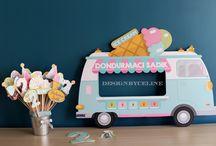 dondurma temalı doğumgünü partisi
