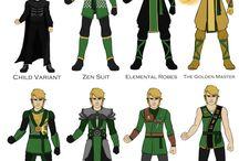 postacie z lego ninjago
