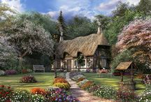 cottages/thatch roof/getaways / by Claudia Nelson
