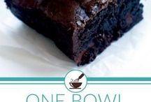 triple chocolate one bowl brownies