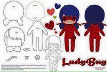 Manualidades de ladybug y cat  noir