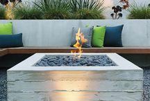 terrace fireplace