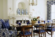Dining in blue