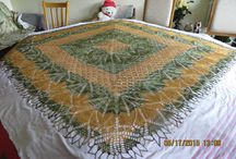 latest knited lace project / knitted Lace