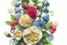 Çiçek motifleri pano
