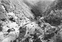 Barrage de Marèges en N&B - Liginiac 19160 / De la construction au milieu du siècle