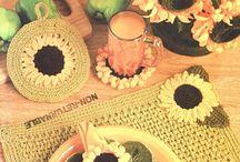 Háčkované slunečnice (Crochet Sunflower)