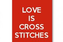 love is cross stitches