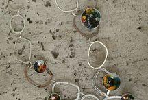 collares en plata #950 esmaltados y cadenas