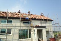 Spanish roof tile / Spanish roof tiles in Korean farm