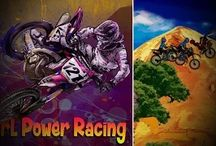 Girly Motocross Cartoon Games