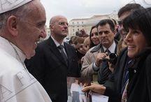 Papa Francisco / Audiencia del 26 de noviembre de 2013, con mi mamá y mi esposo.