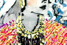 Robert Mickool : www.robertmickool.com Fashion Illustration / Professional fashion illustrator during the 1980's and early 1990's : At the age of 81 he reinvents the iconic All American Woman. www.robertmickool.com