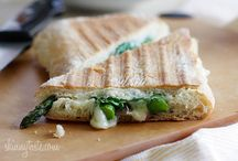 Grilled Sandwiches - w/ Mushrooms, Vegetables