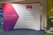 Texstyle Curved Fabric Displays / Large exhibition displays. Lightweight fabric system, bespoke printed with your design in the UK.