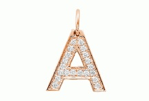 ALPHABET COLLECTION / Alphabets studded in Diamonds made in Gold. we will bring you series of collection which has different styles of alphabets