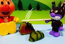 アンパンマンおもちゃアニメ❤バイキンマンの夏のスイカ割り! Anpanman toys