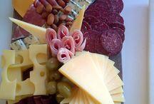 Montaje tabla de quesos