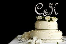 Cake Toppers / Rhinestone Cake Topper Letters For weddings, birthdays, engagements or anniversaries