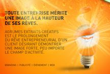 PUBLICITE CORPORATIVE / publicité corporative pour Agrumes Extraits Créatifs inc.