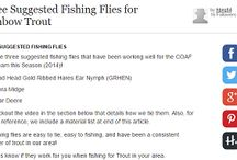 Suggested Fishing Flies / Suggested fishing flies from the Team